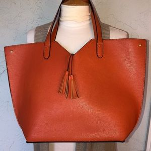 NEIMAN MARCUS Faux Leather Tote